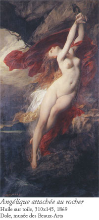 Jules Machard, Angélique attachée au rocher, 1869