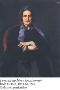 Jules Machard, portrait de madame Jeanhenriot, 1866