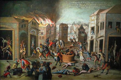 Pierre Maublanc, Massacres de la guerre